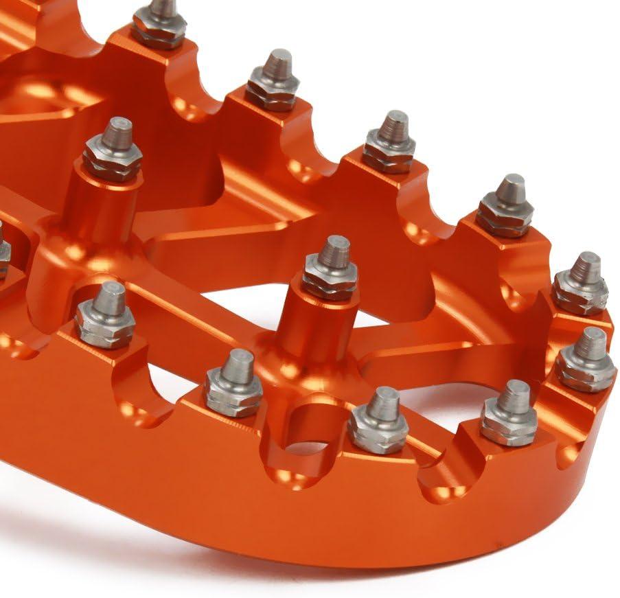 JFG RACING billet MX Wide pedane pedali poggiapiedi per Husqvarna 65-701 TE TC FE FC ENDURO SUPER MOTO 14-18 FS450 15 Husaberg All Models 08-14