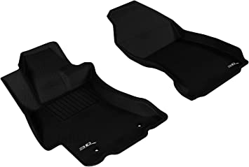 3D MAXpider Front Row Custom Fit All-Weather Floor Mat for Select Infiniti M35 Models Kagu Rubber Black
