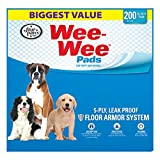 WEE-WEE Four Paws Standard Puppy Pads, 200 Ct