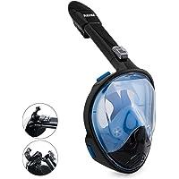 Rasse Full Face Snorkel Mask 180 ° Compatible Panoramic Sea View Respiración Libre Snorkel Design Dry Top Set Antivaho Máscaras antifugas para Adultos Youth Kids