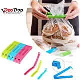 DeoDap 36Pc Plastic Food Snack Bag Pouch Clip Sealer for Keeping Food Fresh for Home Kitchen Camping Snack Seal Sealing Bag Clips (Multi Color)   pouch clip sealer 36 piece   food clips sealer   food clips sealer combo   food clips combo   clip sealers for kitchen   food pouch clip  