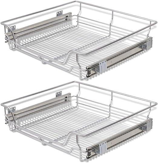 3 Shelf Organizer Cabinet Rack Kitchen Top Bathroom Storage Office Steel Wire
