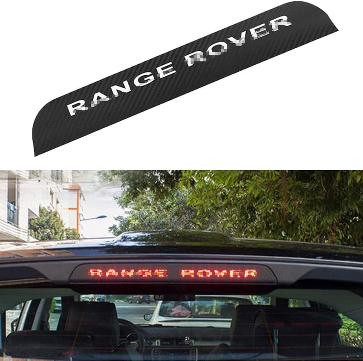 QWASZX Calcoman/ía de luz de Freno Alta para Coche Pegatina de Fibra de Carbono para Cola Superior Accesorios Adhesivos para luz de Freno para Range Rover Evoque 2012-2015