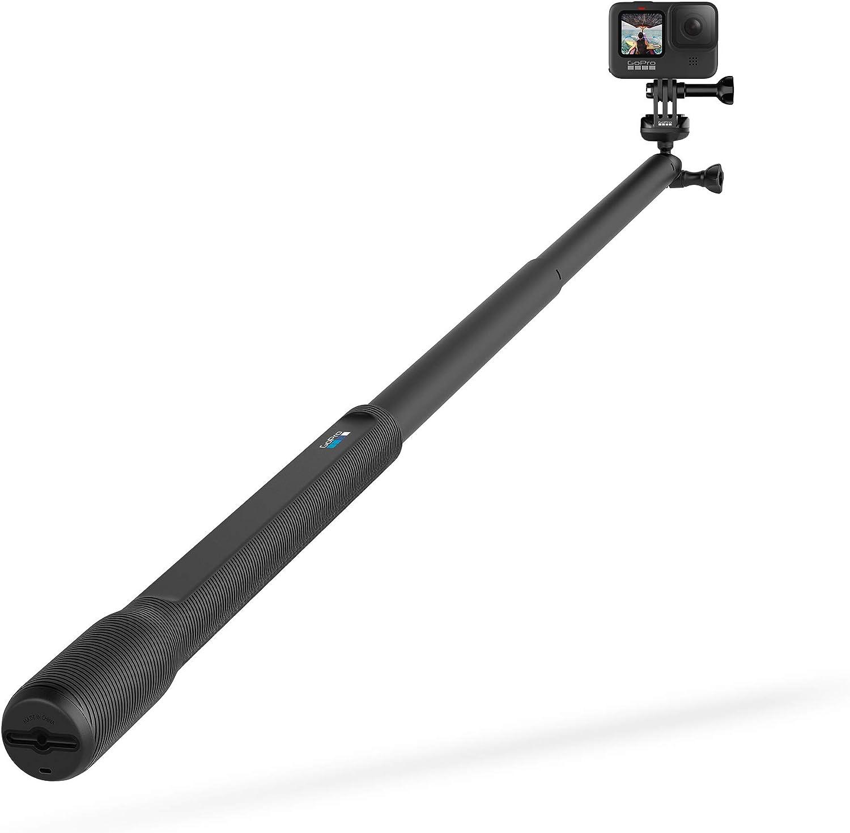38in Extension Pole GoPro HERO9 Black Bundle with El Grande Mount