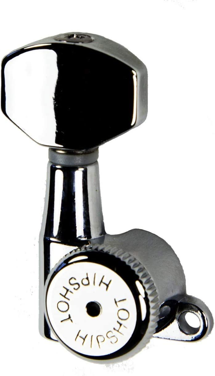 Hipshot Grip-Lock 6 inline Enclosed 21mm Post Locking Tuners - Chrome