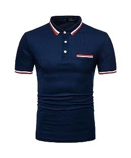 Top Blouse T-Shirt à Manches Courtes Occasionnel de personnalité de la Mode des Homme Malloom