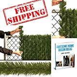 Outdoor Privacy Screen,Outdoor Decorations Fence Gate Christmas,Xmas Garden Picket Tree Fence Braid,Create Privacy And Add Beauty Around Property & EBOOK AWESOME HOME DECOR IDEAS.