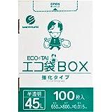 45L 半透明ごみ袋 ボックスタイプ 【100枚入り】 【Bedwin Mart】