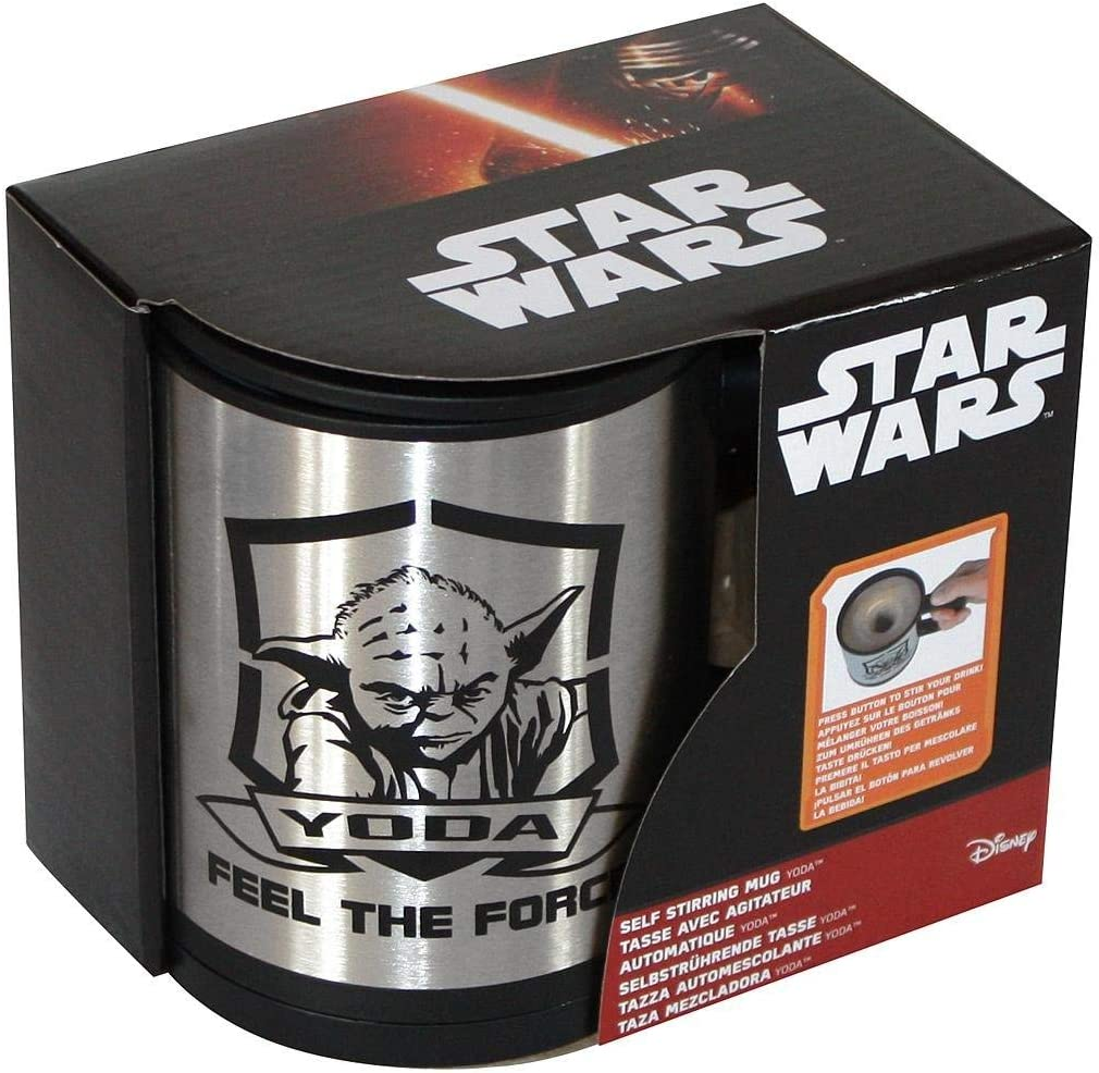 Boxed Official Star Wars Darth Vader Self-Stirring Feel The Force Coffee Mug