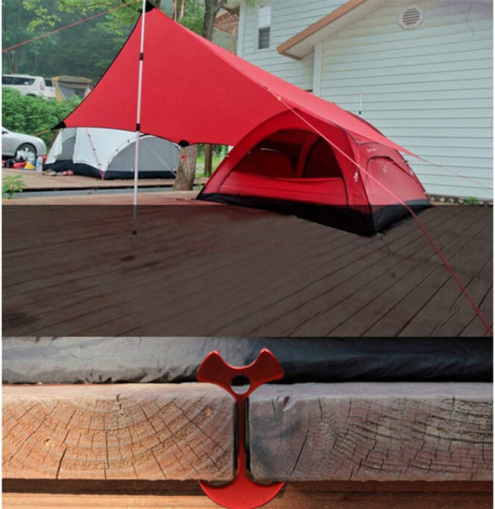 4x Deck Board Deck Camp W// Fish Bone Nails Tent Wind Rope Plank Road Hook Anchor