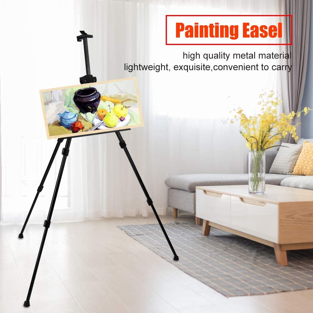 Chevalet de peinture chevalet de croquis de peinture en m/étal pliable portable 10cm /à 85cm hauteur r/églable tr/épied support affiche panneau daffichage chevalet pour artistes peintres