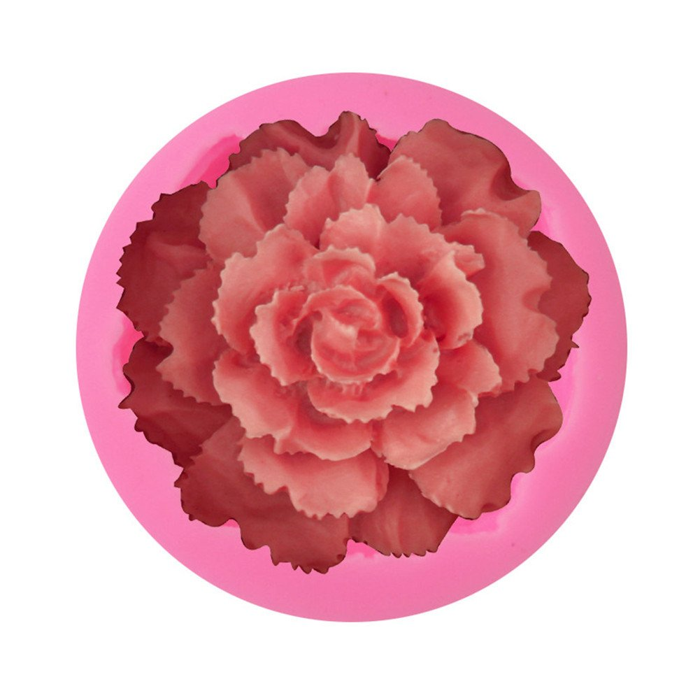 OHYESS DIY Beautiful Flowers Rose Carnation Soap Mold Fondant Cake Silicone Mold Chocolate Candy Baking Clay Mould oh yes