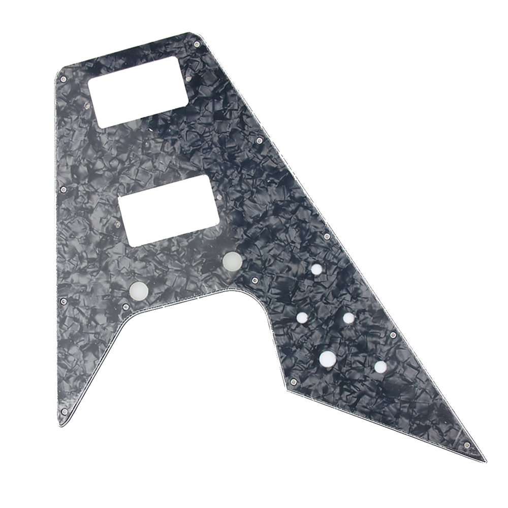 Guitar Pickguard Replacement of '67 Reissue Series for Gibson Flying V - BLACK PEARL from AK-music