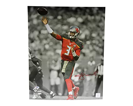 Jameis Winston Autographed Signed 16x20 Photo Tampa Bay Buccaneers  Spotlight Red - PSA DNA Certified e016652dc