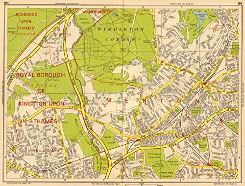 Sections Of London Map.Amazon Com London Sw19 Sw20 Wimbledon New Malden Kingston Merton