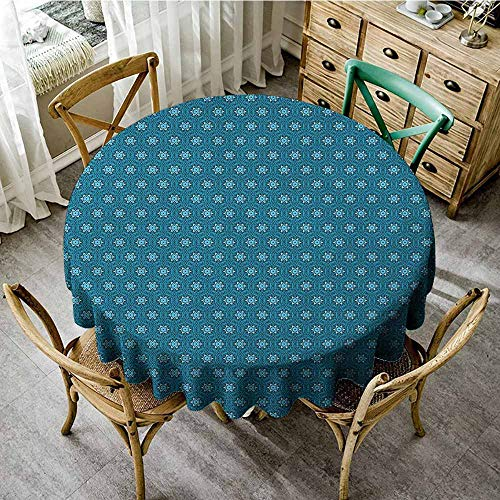 Fitted Round Tablecloth with Elastic 47