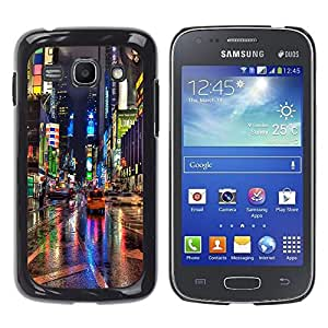 Design for Girls Plastic Cover Case FOR Samsung Galaxy Ace 3 Broadway Street City New York Rain Lights OBBA