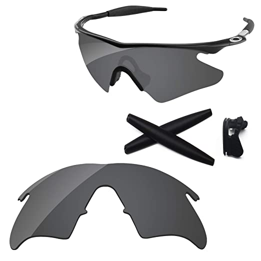 154eb7bba17d PapaViva Lenses Replacement & Rubber Kits for Oakley M Frame Heater Black  Grey