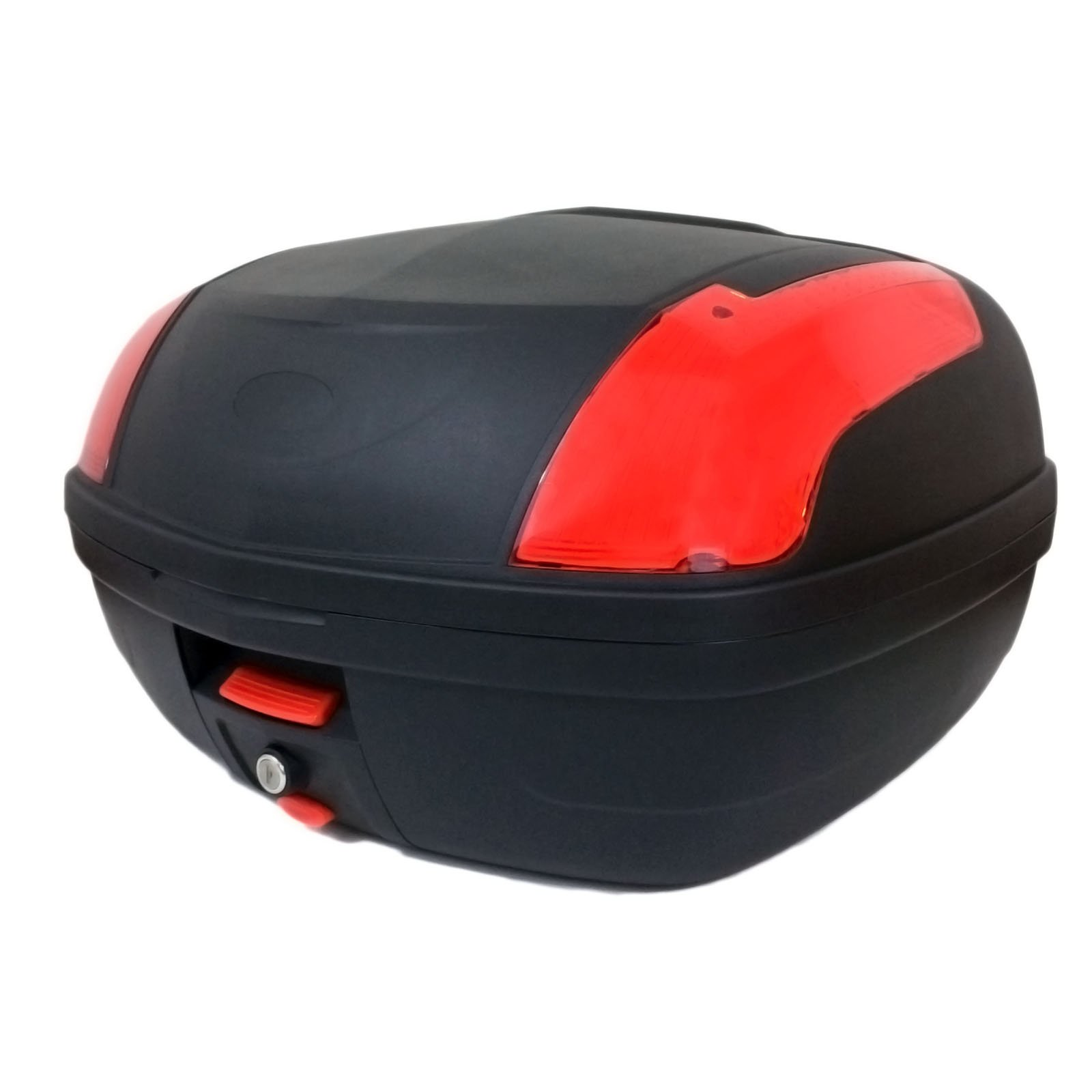 Motorcycle Touring LARGE Top Box Tail Trunk Luggage Box - 46 Lt Capacity - Can Store two (2) Helmet HARD CASE (889)