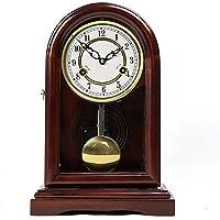 Desk Clock Mantel Clock European Table Clocks Living Room Decor Mechanical Manual Winding Non Ticking Vintage Pendulum…