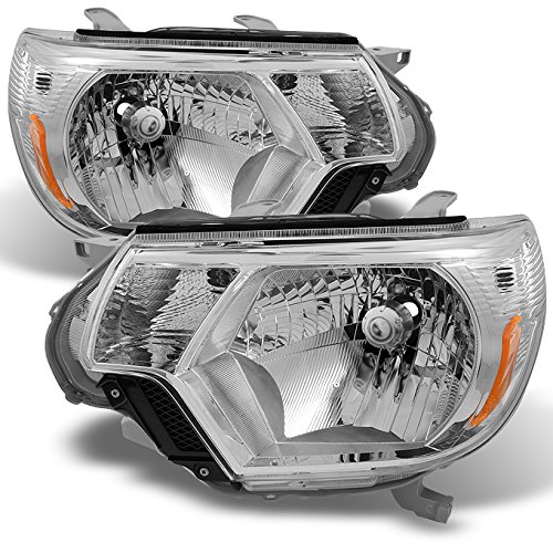 For Toyota Tacoma Pickup Truck Clear Headlights Head Lamps Replacement Left + Right Pair set