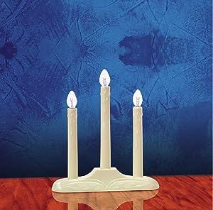 Celebrations, Orange 1503-71 Electric Candolier, 3 Light, Bulbs
