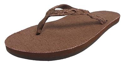 3a812c64b89ae3 Rainbow Sandals Women s Single Layer Hemp w a Braided Strap Natural