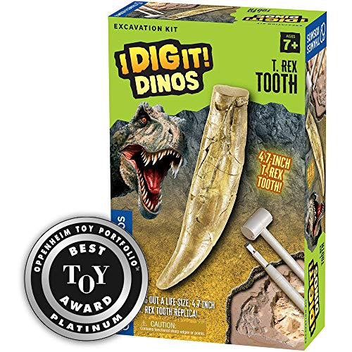 Thames & Kosmos I Dig It Dinos - T. Rex Tooth Excavation | Science Experiment Kit | Excavate A Giant Tyrannosaurus Rex Dinosaur Tooth | 2018 Oppenheim Toy Portfolio Platinum Award Winner -