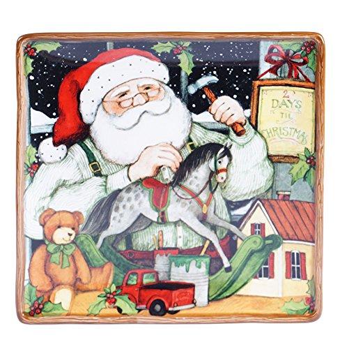 - Certified International Santa's Workshop Square Platter, 12.5