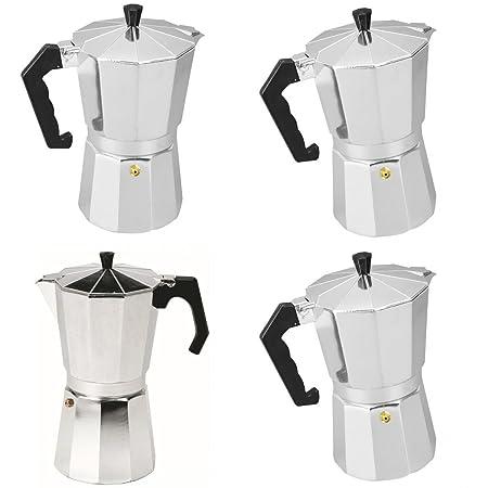LOVIVER Cafetera De Aluminio Moka Pot De 4 Piezas Estufa Superior ...