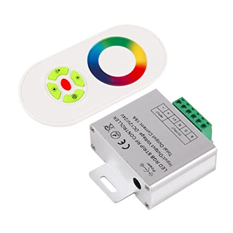 574e061e1bc Image Unavailable. Image not available for. Color  RF Touch Panel Wireless  Remote Controller For RGB Led Strip Light ...
