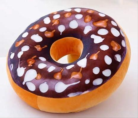 YiJiaMei Almohada De Donuts De Simulación Impresa con Cojín ...