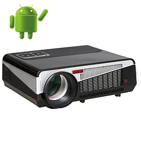 Gzunelic 6500 lumens LCD 1080p Video Projector Android WiFi LED Full HD Theater Proyector with Bluetooth Wireless Synchronize to Smart Phone by ...