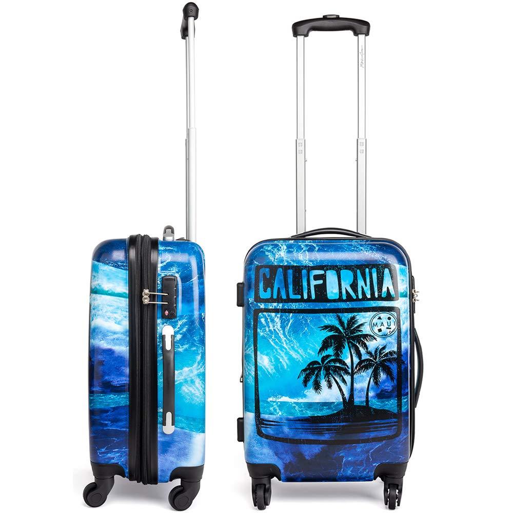 0170d291140e Maui and Sons California Expandable Hardside Spinner Luggage with TSA Lock  (20