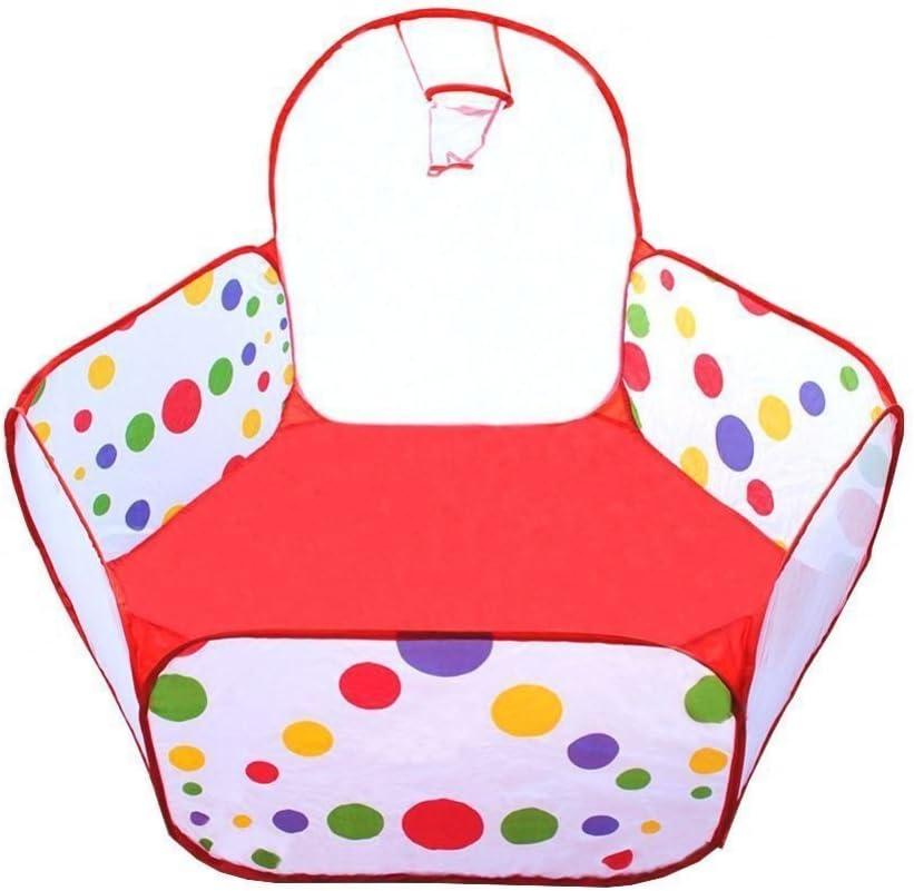 ANPI Piscina de bolas, Tienda de Juego para los Niños y Infantiles, Tienda de Campaña Portátil con Aro de Baloncesto (Bolas no incluidas)