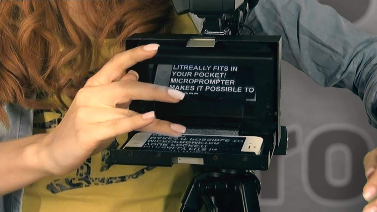 MicroPrompter - World's Smallest Professional Portable Teleprompter for Recording Videos on Your Smartphone, Camcorder or Small DSLR by MicroPrompter (Image #8)