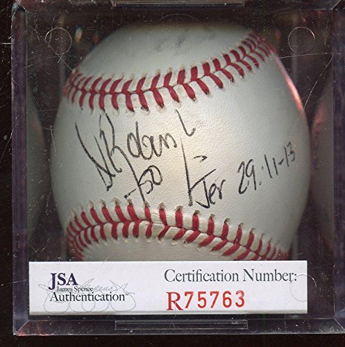 Autographed David Robinson Baseball - 50 Basketball Player Selig JSA Cert - Autographed Baseballs (Basketball Robinson Autographed)