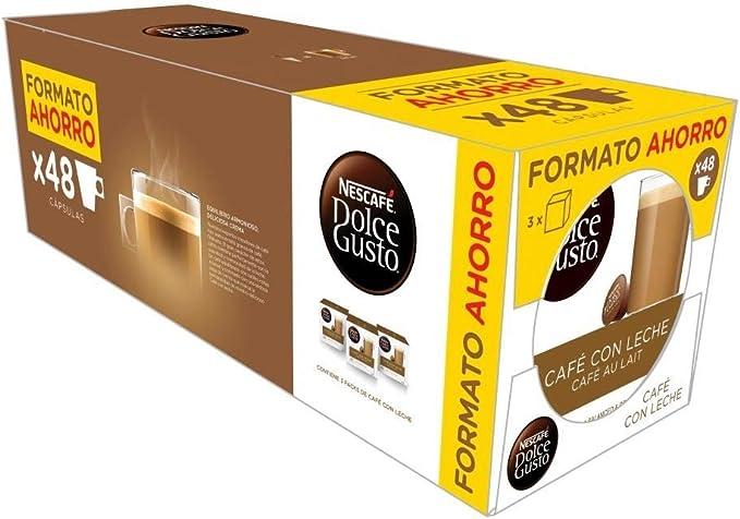 DOLCE GUSTO café con leche 48 cápsulas caja 370 gr: Amazon.es ...