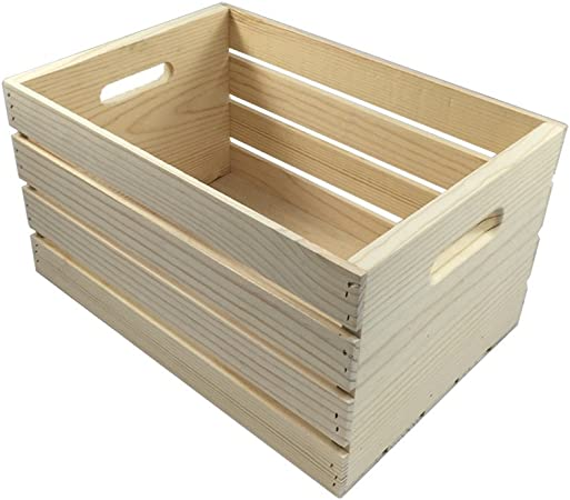 Crates And Pallet Large Wood Crate 18in X 12 5in X 9 5in By Candysweet Amazon Co Uk Pet Supplies