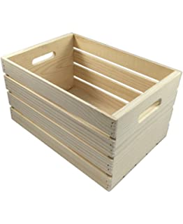 Crates And Pallet   Large Wood Crate   18in X 12.5in X 9.5in By