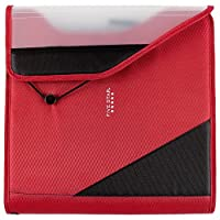 Five Star 1-1 /2 Inch Zipper Binder, fácil acceso, durable, rojo /gris (29278BE7)