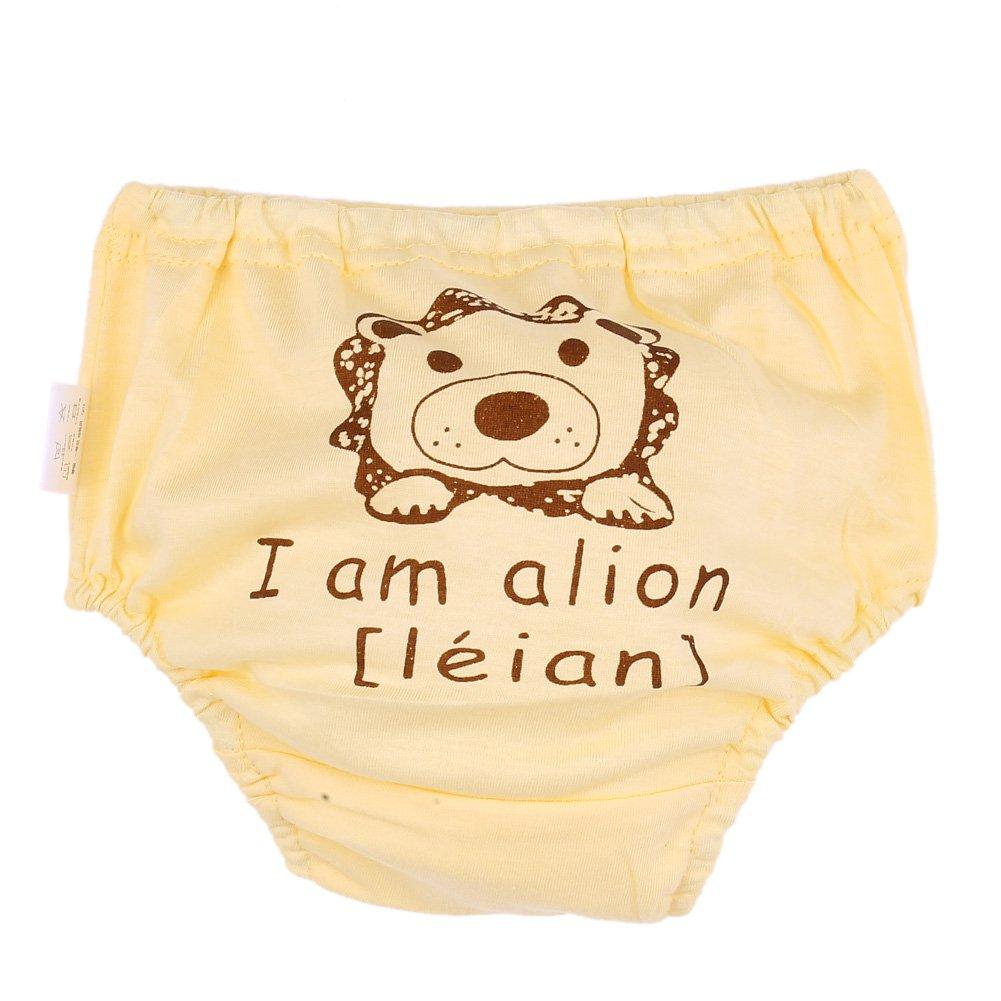 domybest pantalones de entrenamiento para bebé algodón dibujos animados ropa interior Bebé Infantil Reutilizables pañales pañal Blue Elephant letters Talla:0-6 M