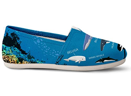 Amazon Gnarly Tees Whale Diagram Casual Shoes Walking