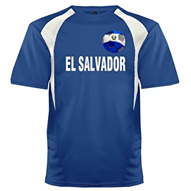 e62449a2c Custom El Salvador Soccer Ball 1 Jersey Adult 2X-Large in Royal Blue and  White