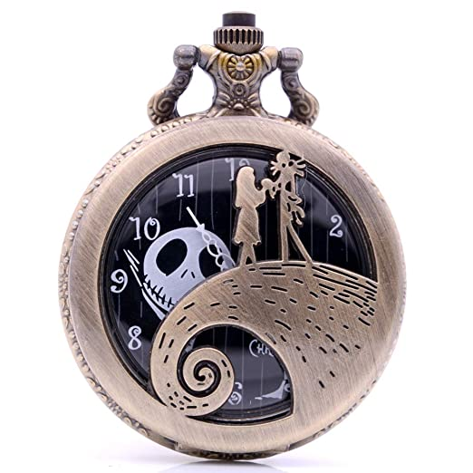 c3bc1a35f Amazon.com: Vintage Bronze Nightmare Before Christmas Quartz Pocket ...