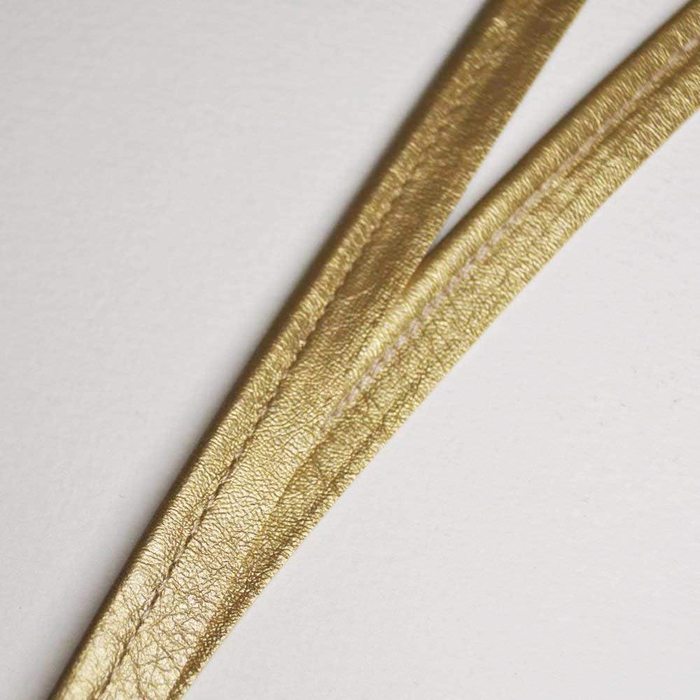 designers-factory Passepoil en Simili Cuir dor/é Souple Belle qualit/é par 10 m/ètres Passepoil skai dor/é