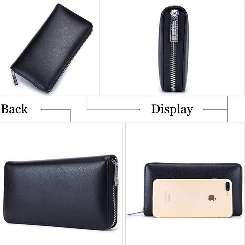 RFID Blocking 36 Slots Credit Card Wallet Genuine Leather Holder for Women Men