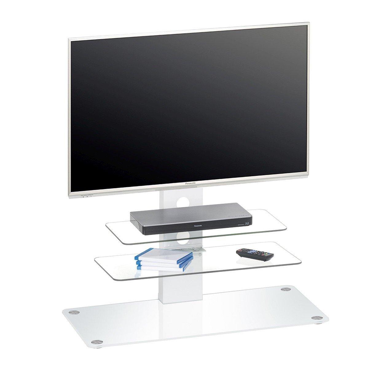 Maja Möbel TV-Rack, Glas, Weiß
