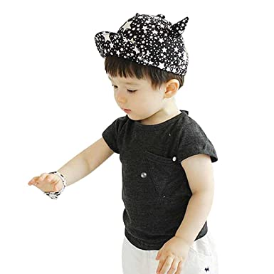 Marca west Unisex Baby Kid Child Toddler Boy Girl Safari Baseball Sun  Protection Beanie Cap Hat 5f548da65db5