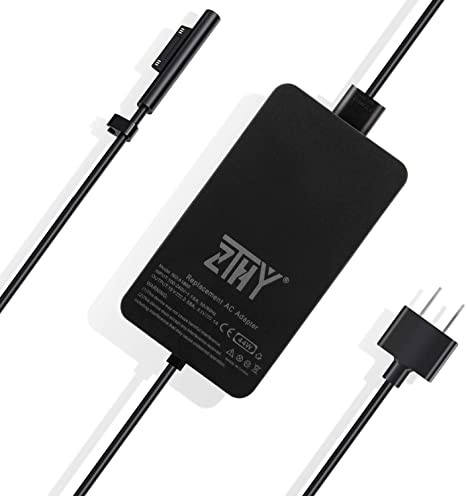 Surface Pro Charger Surface Laptop Charger,44W 15V 2.58A Power Supply Compatible Microsoft Surface Pro 6 Pro 5 Pro 4 Pro 3 Surface Laptop /& Surface Go /& Surface Book with USB Charging Port.